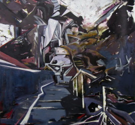 Landscape #14, Acrylic on Canvas, 190x83 inches, 2013