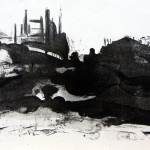 Landscape #11, Stone Lithograph on Paper, 11x15 inches, 2013