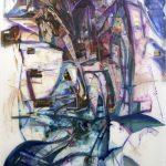 Archway, Acrylic on Mylar 98x42 in, 2017