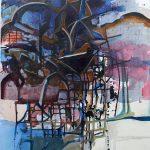 Skylight, Acrylic on Canvas, 48x31 inches, 2018