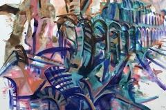 Zahra-Nazari-Cuba-to-Spain-2019-acrylic-on-canvas-56x43-inches