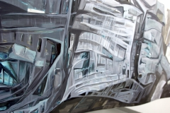 22.-Metamorphosis-Installation-Cooper-Union-NY-2015-Acrylic-on-Shaped-Industrial-Grade-Aluminum-Sheets-84x180x72-inches