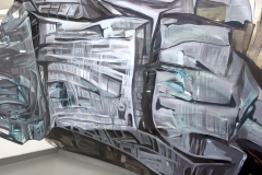 29.-Metamorphosis-Installation-Cooper-Union-NY-2015-Acrylic-on-Shaped-Industrial-Grade-Aluminum-Sheets-84x180x72-inches