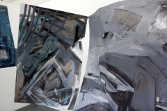 30.-Metamorphosis-Installation-Cooper-Union-NY-2015-Acrylic-on-Shaped-Industrial-Grade-Aluminum-Sheets-84x180x72-inches