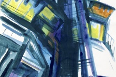 12.-The-High-rise-acrylic-on-paper-21x13-inches-2020