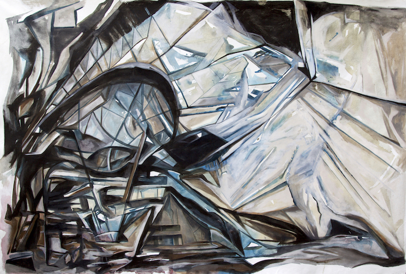 Urban Structure, acrylic on canvas 56x86 inches, 2015