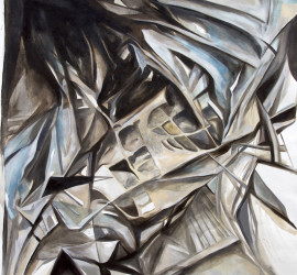 Urban Structure #23, acrylic on canvas 57x51 inches, 2015
