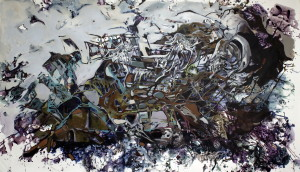 Landscape #18, acrylic on canvas 53x94.5 inches, 2012