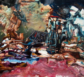 The World is Beautiful Before it is True, acrylic on canvas, 48x84 inches, 2012