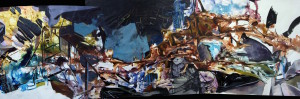 Panorama #26, acrylic on canvas, 56x172 inches, 2013