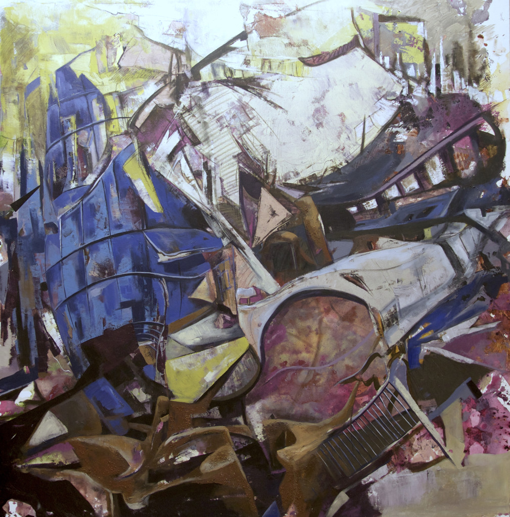 City #58, acrylic on canvas, 73x68 inches, 2013