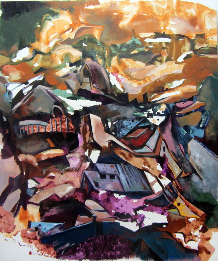 Park City, Light and Shadow, acrylic on canvas , 54x45 inches, 2012
