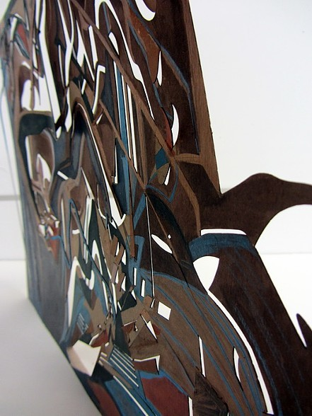 City #3, laser cut, 11x15 inches, 2013