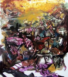 Spacious Views, Park City Mood, acrylic on canvas, 50x44 inches, 2012