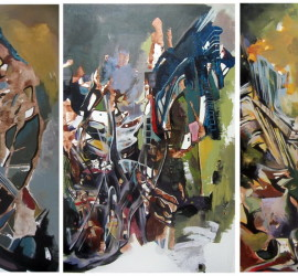 Untitled #14, acrylic on canvas, 53x105 inches, 2012