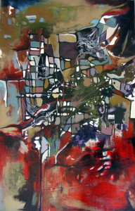Mapping, acrylic on canvas, 48x30 inches, 2012
