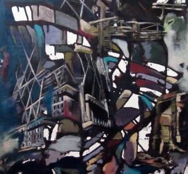 Elegy #1, mixed media on canvas 33x24 inches, 2011