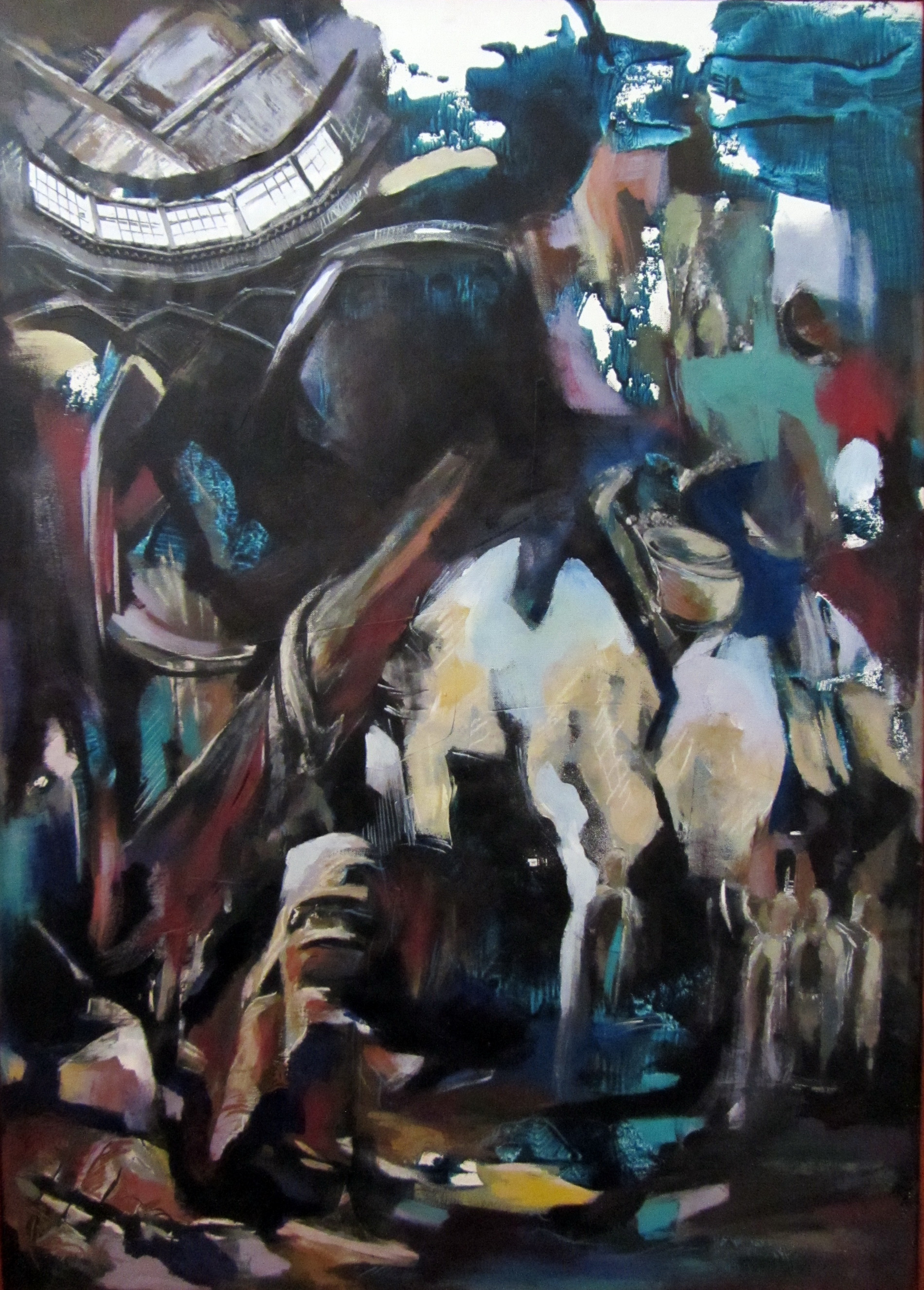 Departure #7, mixed media on canvas, 31x22 inches, 2011