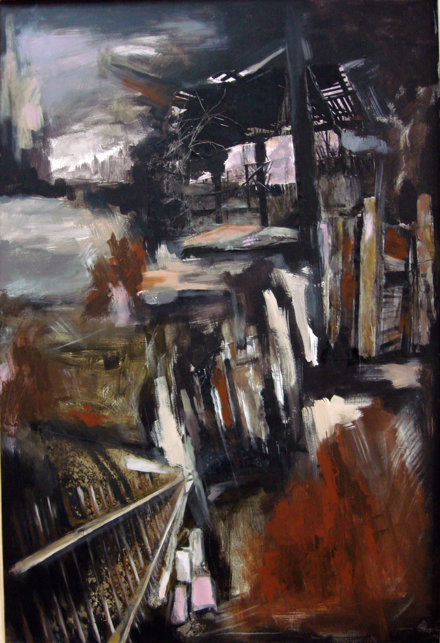 Untitled #76, mixed media on canvas, 47x31 inches, 2008