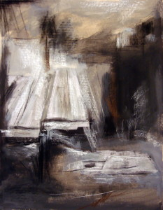 The Light #89, acrylic & pastel on paper, 39x31 inches, 2009