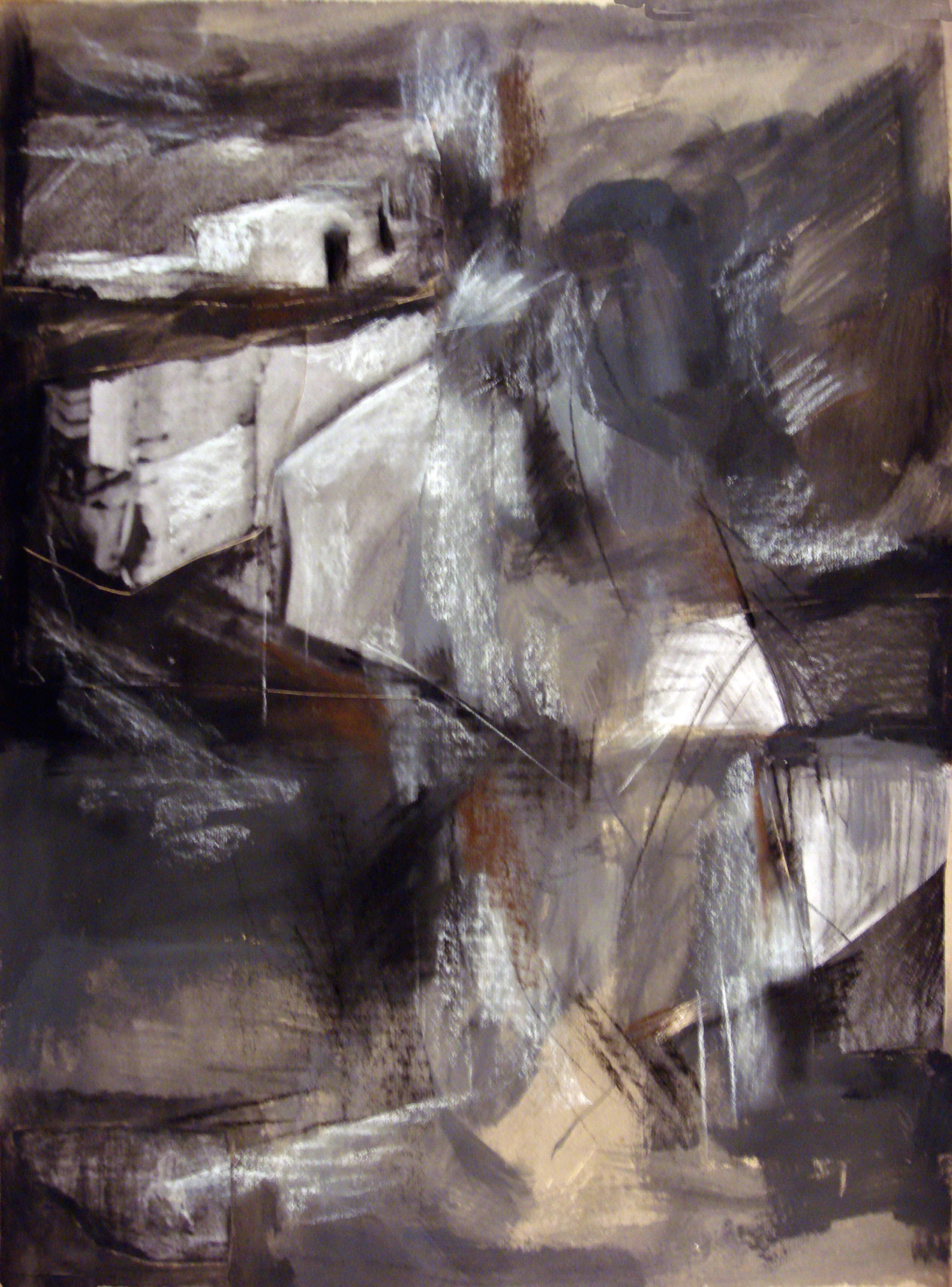 Untitled #32, acrylic & pastel on paper, 39x31 inches, 2009