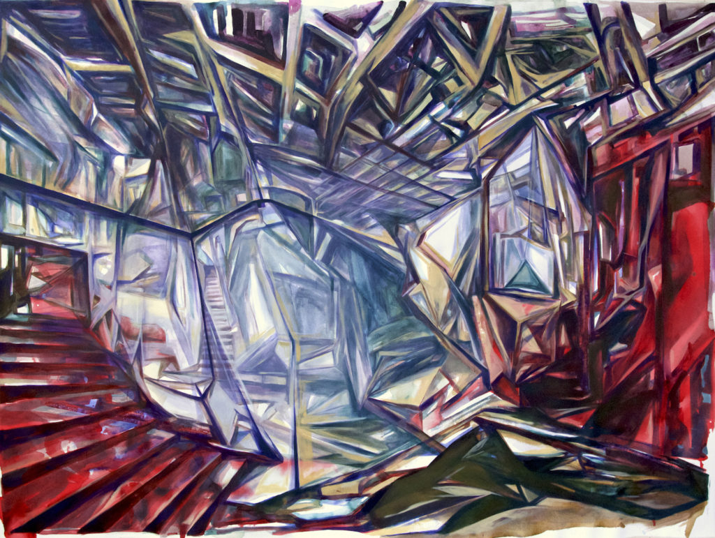 Interior, acrylic on canvas, 72x96 inches, 2016