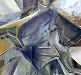 Transfiguration, acrylic on linen, 42x35 inches, 2017