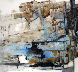Mapping #36, acrylic on mylar, 23 7/8 x 36 inches, 2015