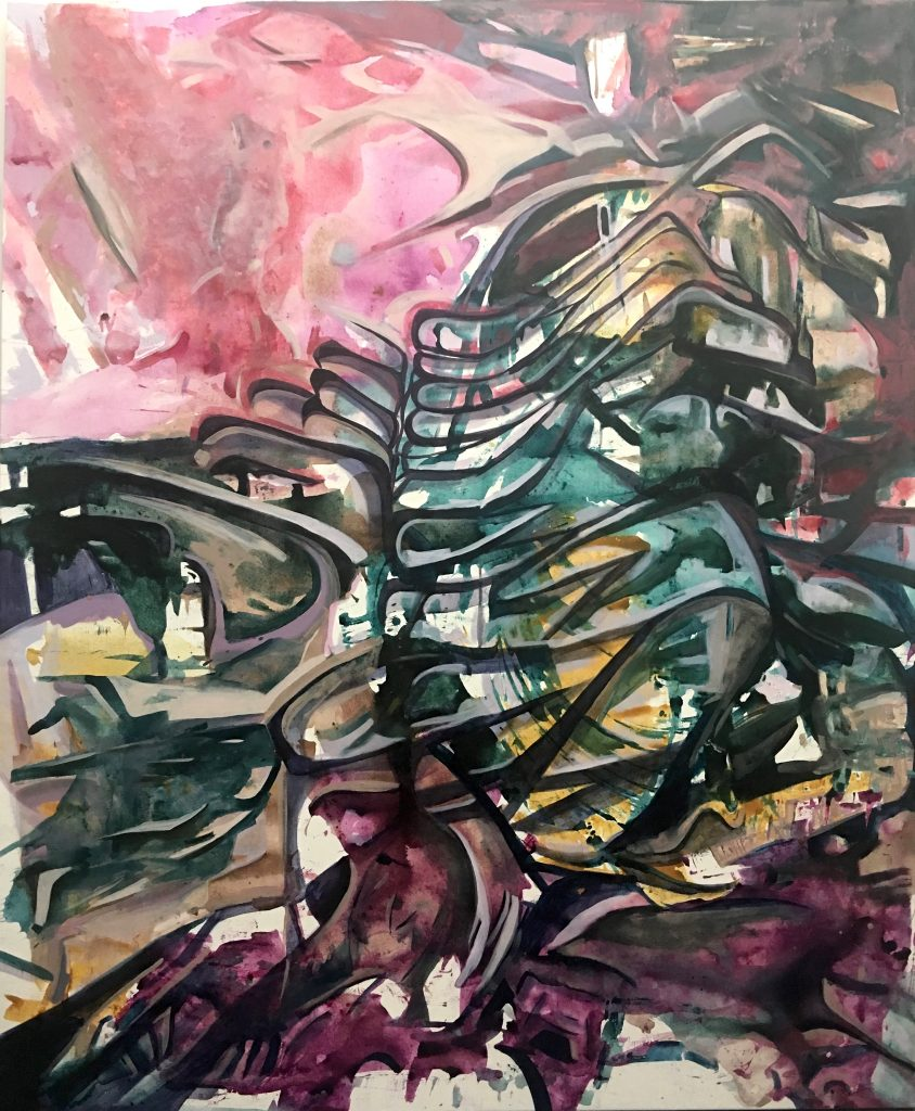 520 West 28th Condo, acrylic on canvas, 68x56 inches, 2018