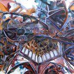 Ali Qapu Palace, acrylic on canvas, 35x55 inches, 2020