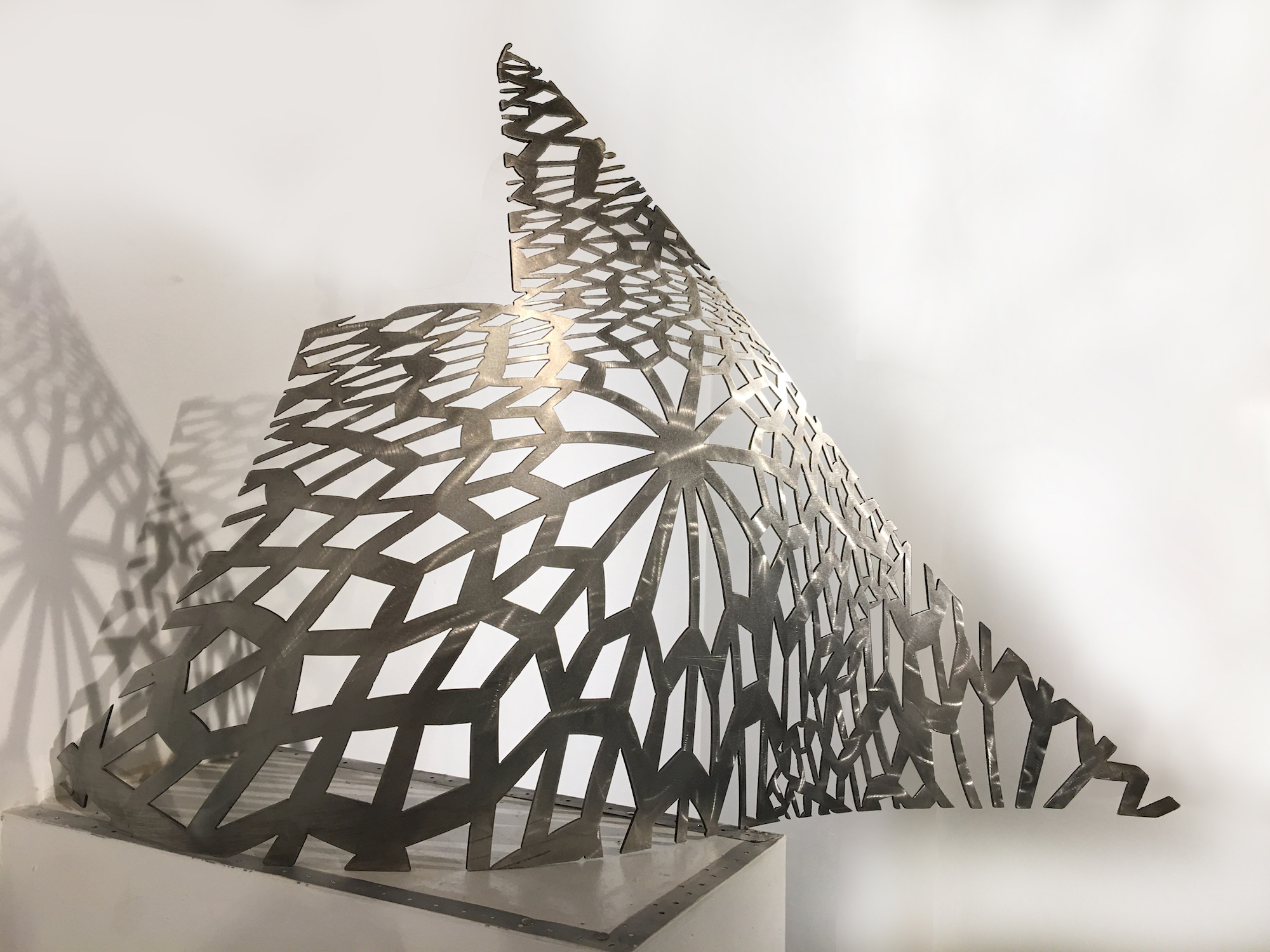 Patterns of Persia, 12 gauge stainless steel, 25x48x11 inches, 2020